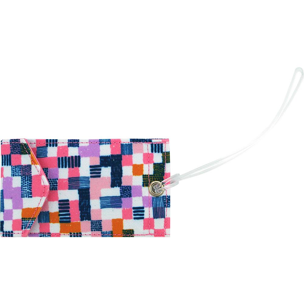 Capri Designs Josephine Kimberling Jen Luggage Tag Paintbox Floral Capri Designs Luggage Accessories