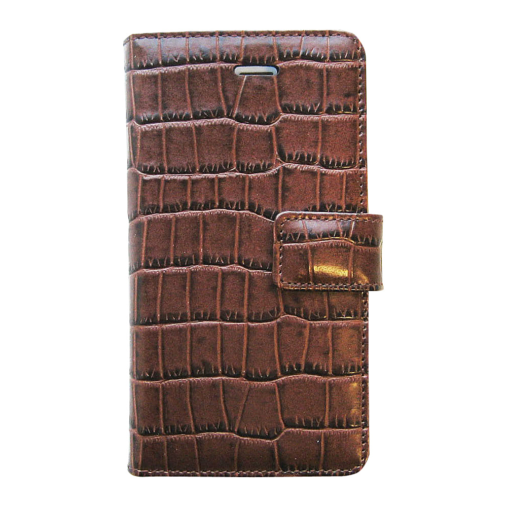 Tanners Avenue Leather iPhone SE Case Wallet Brown Croc Tanners Avenue Electronic Cases