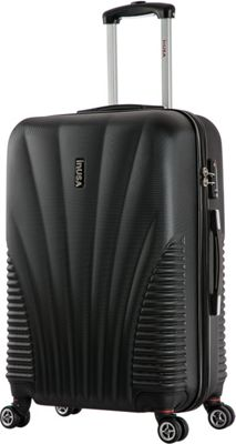 inUSA Chicago Collection 25 inch Lightweight Hardside Spinner Suitcase Black - inUSA Hardside Checked