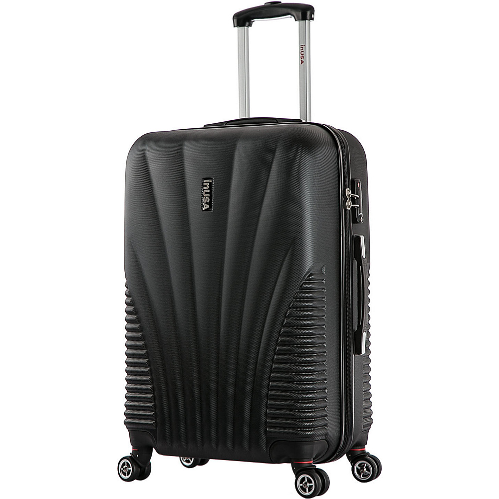 inUSA Chicago Collection 25 Lightweight Hardside Spinner Suitcase Black inUSA Hardside Checked