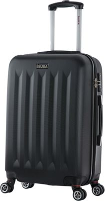 inUSA Philadelphia Collection 23 inch Lightweight Hardside Spinner Suitcase Black - inUSA Hardside Checked