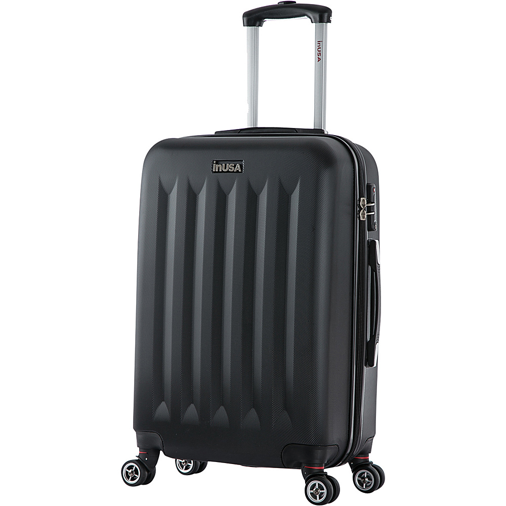 inUSA Philadelphia Collection 23 Carry on Lightweight Hardside Spinner Suitcase Black inUSA Hardside Carry On