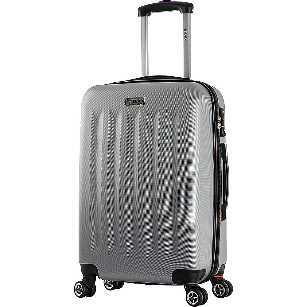 inUSA Philadelphia Collection 23 Carry on Lightweight Hardside Spinner Suitcase Grey inUSA Hardside Carry On