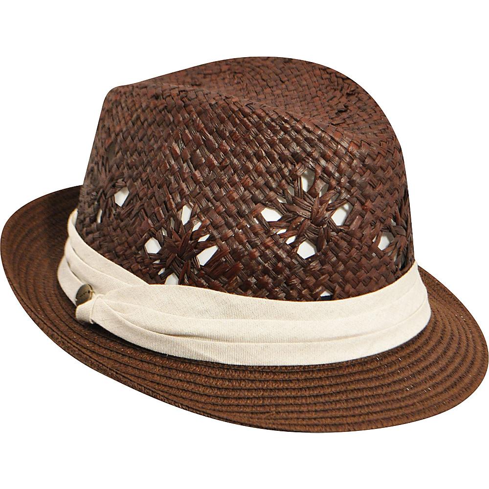Karen Kane Hats Fedora With Pug Band Hat Cocoa Karen Kane Hats Hats Gloves Scarves