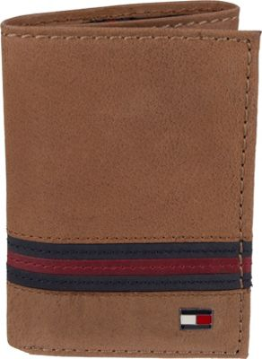 Tommy Hilfiger Accessories Yale Trifold Wallet Tan - Tommy Hilfiger Accessories Men's Wallets