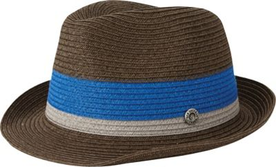 Ben Sherman Wide Stripe Plaited Trilby Hat S/M - Brown - Ben Sherman Hats/Gloves/Scarves