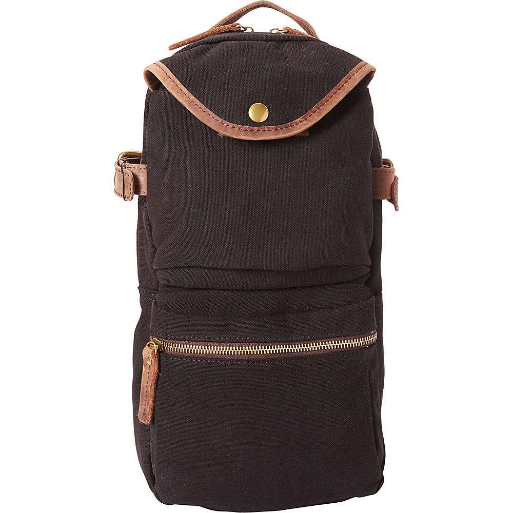 Vagabond Traveler Slim Long Shape Cotton Canvas Backpack Black - Vagabond Traveler Business & Laptop Backpacks - Backpacks, Business & Laptop Backpacks