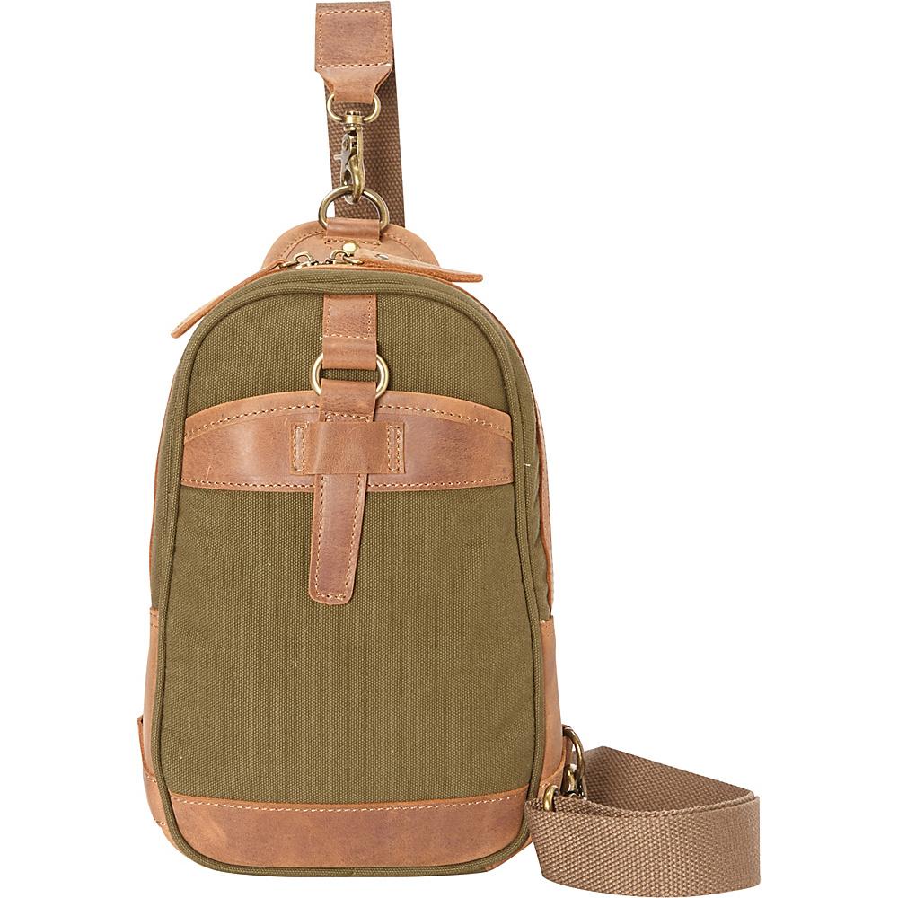 Vagabond Traveler Cotton Canvas Chest Pack Travel Bag Green - Vagabond Traveler Waist Packs - Backpacks, Waist Packs