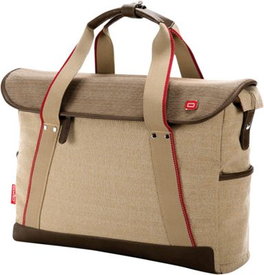 Oxio Rykke Laptop Brief Beige - Oxio Non-Wheeled Business Cases