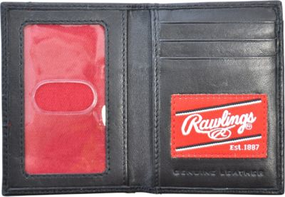Rawlings Baseball Stitch Front Pocket Wallet With Magnetic Money Clip Black - Rawlings Men's Wallets