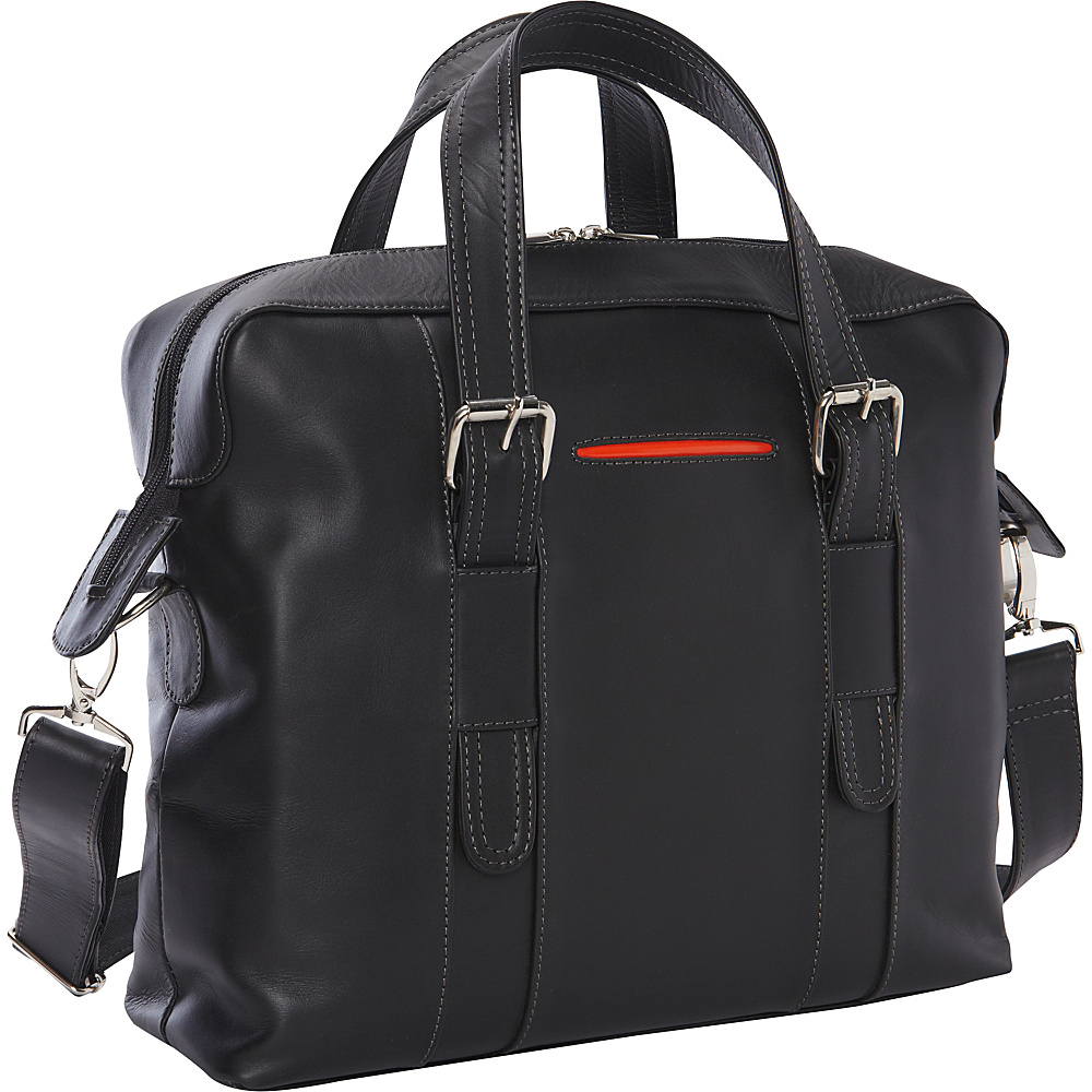 Piel Small Carry-On Brief - Exclusive Black - Piel Non-Wheeled Business Cases - Work Bags & Briefcases, Non-Wheeled Business Cases