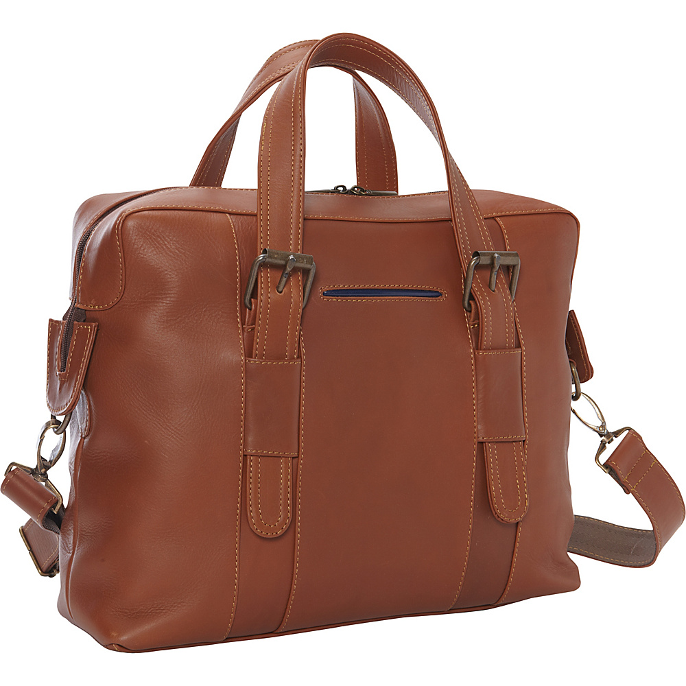 Piel Small Carry-On Brief - Exclusive Saddle - Piel Non-Wheeled Business Cases - Work Bags & Briefcases, Non-Wheeled Business Cases
