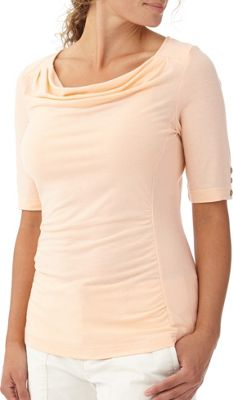 Royal Robbins Womens Essential Tencel Cowl Neck S - Light Cantaloupe - Royal Robbins Women's Apparel