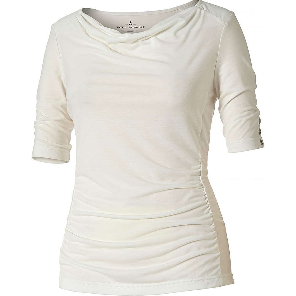 Royal Robbins Womens Essential Tencel Cowl Neck XS - Creme - Royal Robbins Womens Apparel - Apparel & Footwear, Women's Apparel