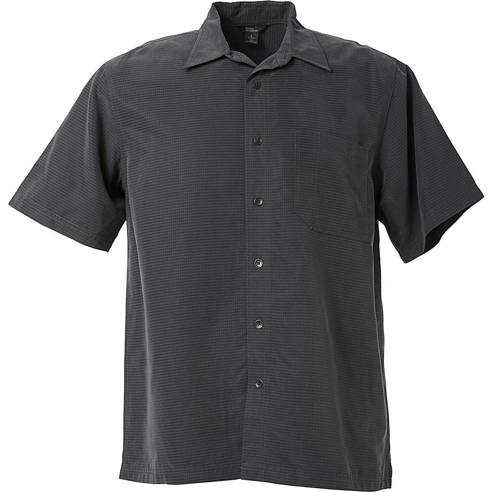 Royal Robbins Mojave Desert Pucker Short Sleeve M - Obsidian - Royal Robbins Mens Apparel - Apparel & Footwear, Men's Apparel