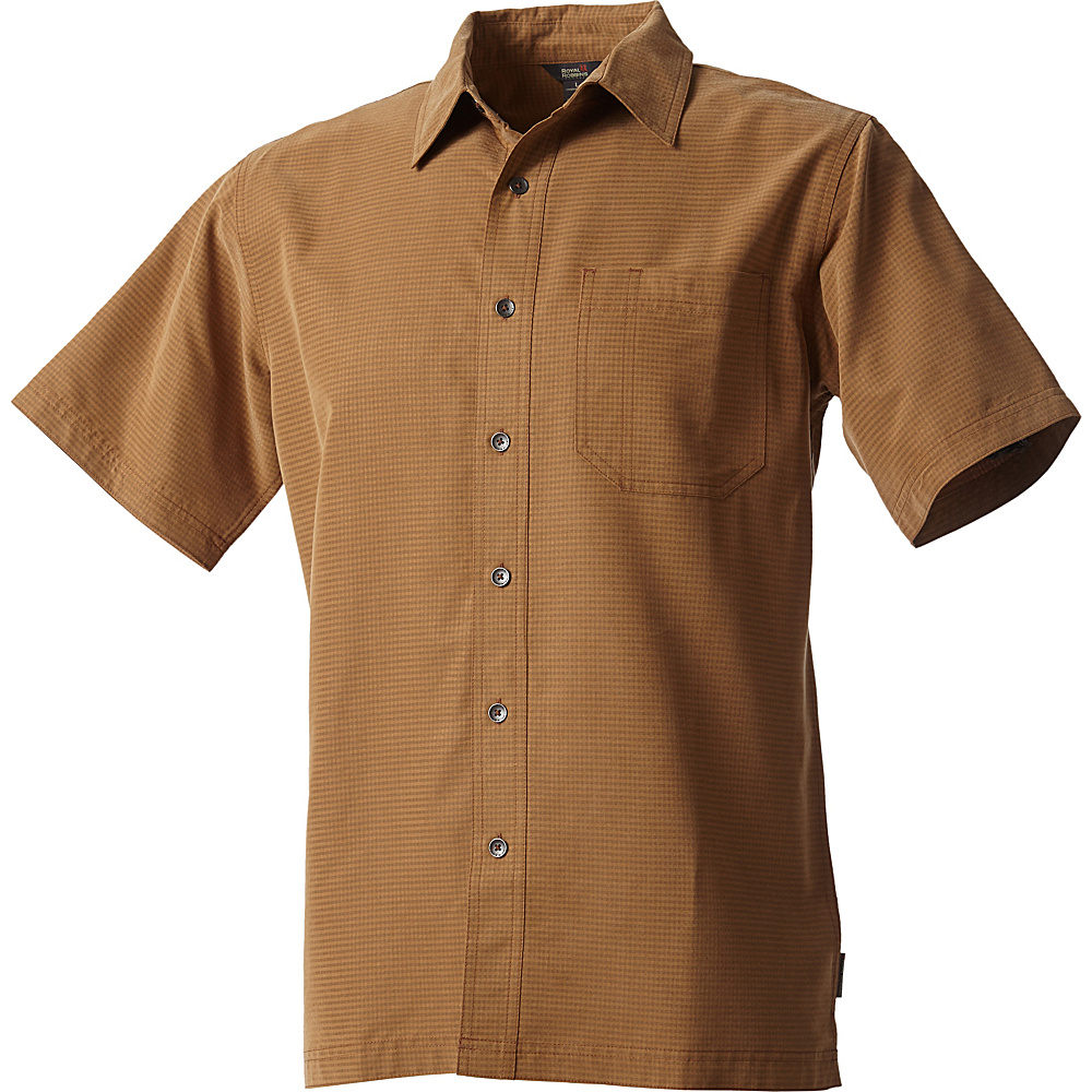 Royal Robbins Mojave Desert Pucker Short Sleeve S - Walnut - Royal Robbins Mens Apparel - Apparel & Footwear, Men's Apparel