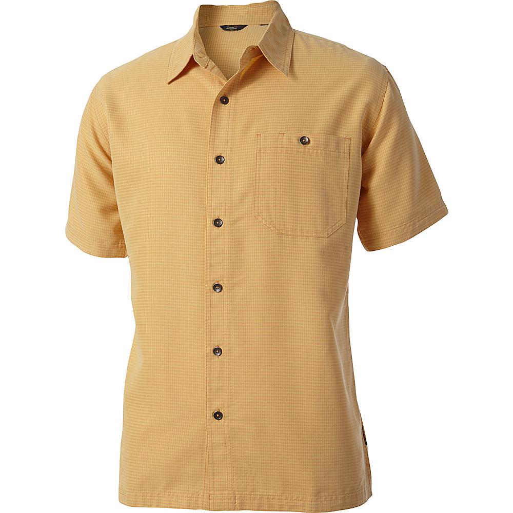 Royal Robbins Mojave Desert Pucker Short Sleeve L - Custard - Royal Robbins Mens Apparel - Apparel & Footwear, Men's Apparel