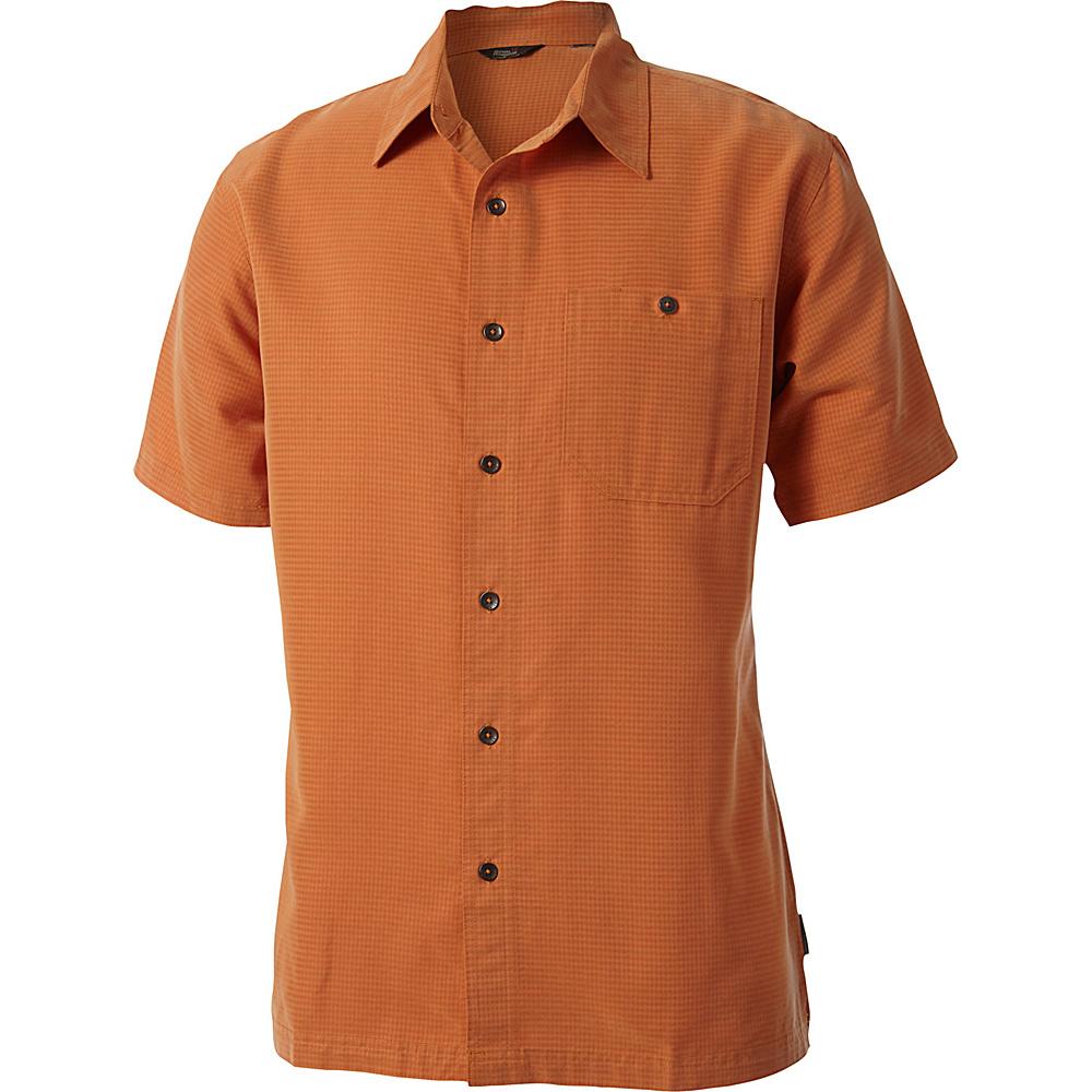 Royal Robbins Mojave Desert Pucker Short Sleeve L - Goldfish - Royal Robbins Mens Apparel - Apparel & Footwear, Men's Apparel