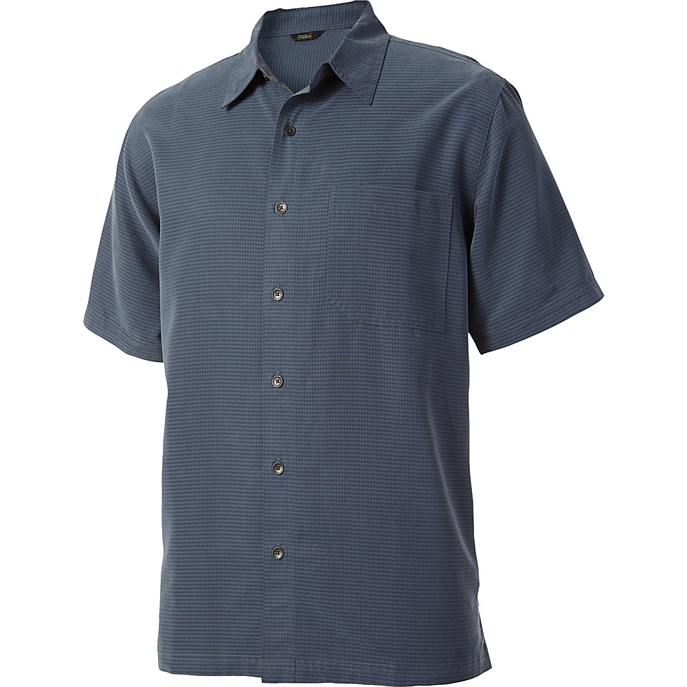 Royal Robbins Mojave Desert Pucker Short Sleeve S - Slate - Royal Robbins Mens Apparel - Apparel & Footwear, Men's Apparel
