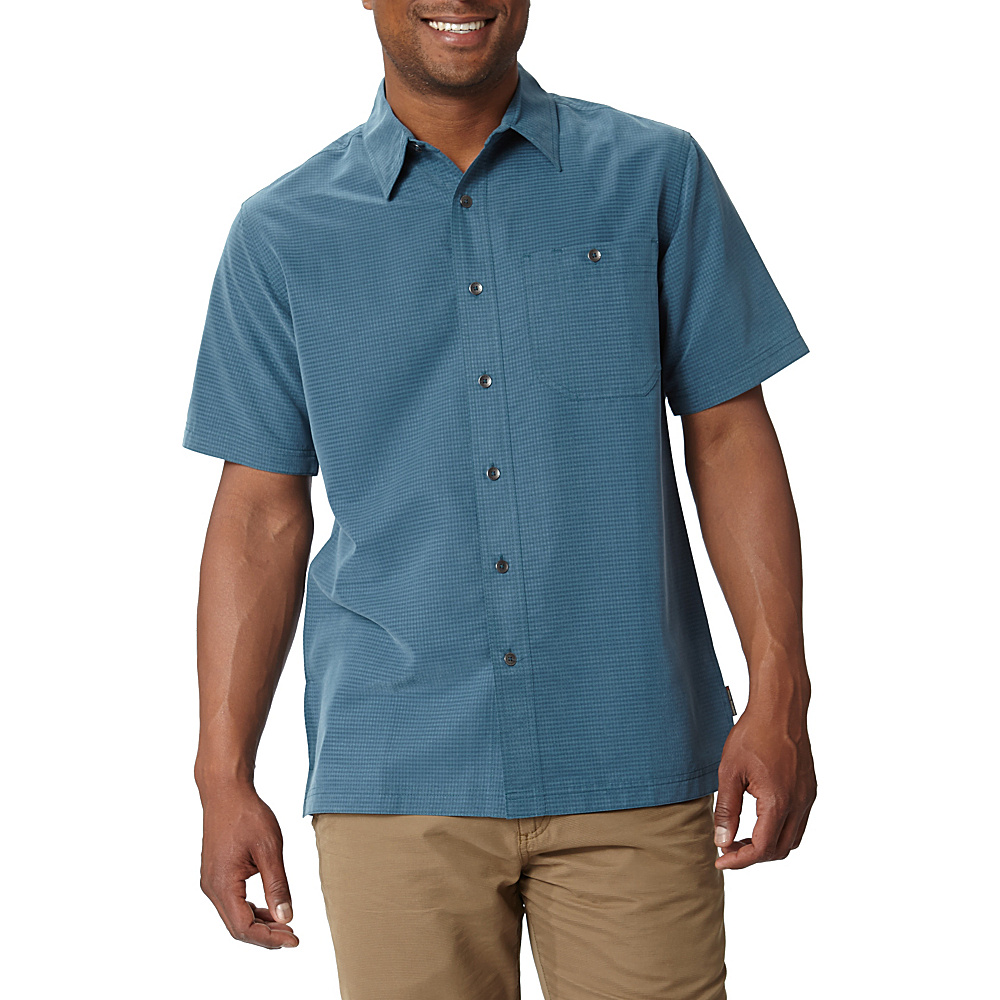 Royal Robbins Mojave Desert Pucker Short Sleeve S - Phoenix Blue - Royal Robbins Mens Apparel - Apparel & Footwear, Men's Apparel