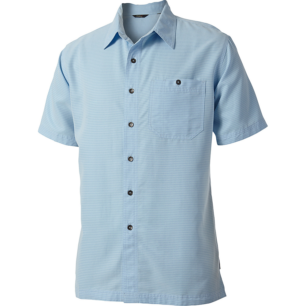 Royal Robbins Mojave Desert Pucker Short Sleeve 2XL - Blue Chill - Royal Robbins Mens Apparel - Apparel & Footwear, Men's Apparel
