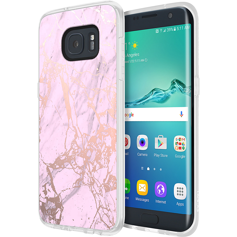 Incipio Design Series Marble for Samsung Galaxy S7 Edge Pink/Rose Gold - Incipio Electronic Cases - Technology, Electronic Cases