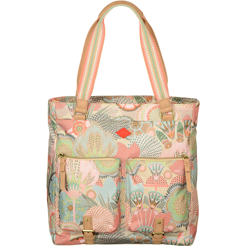Oilily Shopper Tote Peach Rose - Oilily Fabric Handbags