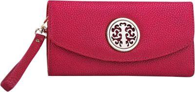MKF Collection by Mia K. Farrow Camilla Flip-Top Multiple Pocket Wallet Red - MKF Collection by Mia K. Farrow Manmade Handbags