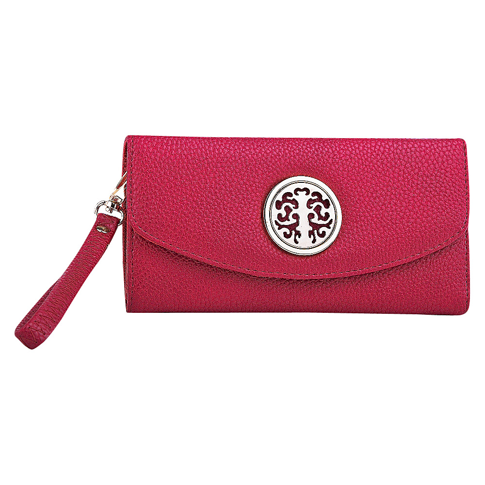 MKF Collection Camilla Flip Top Multiple Pocket Wallet Red MKF Collection Women s Wallets