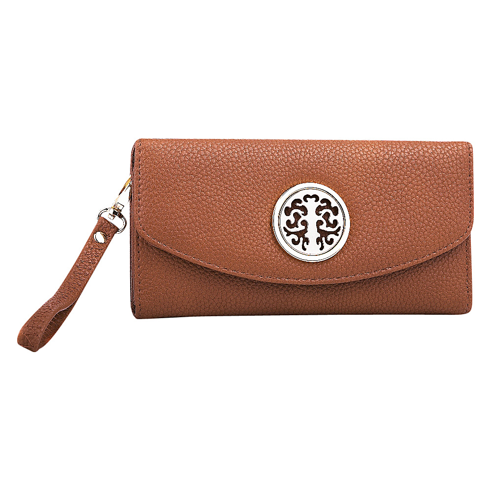 MKF Collection Camilla Flip Top Multiple Pocket Wallet Brown MKF Collection Women s Wallets
