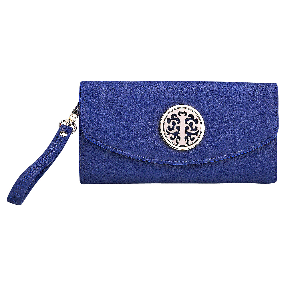 MKF Collection Camilla Flip Top Multiple Pocket Wallet Royal Blue MKF Collection Women s Wallets