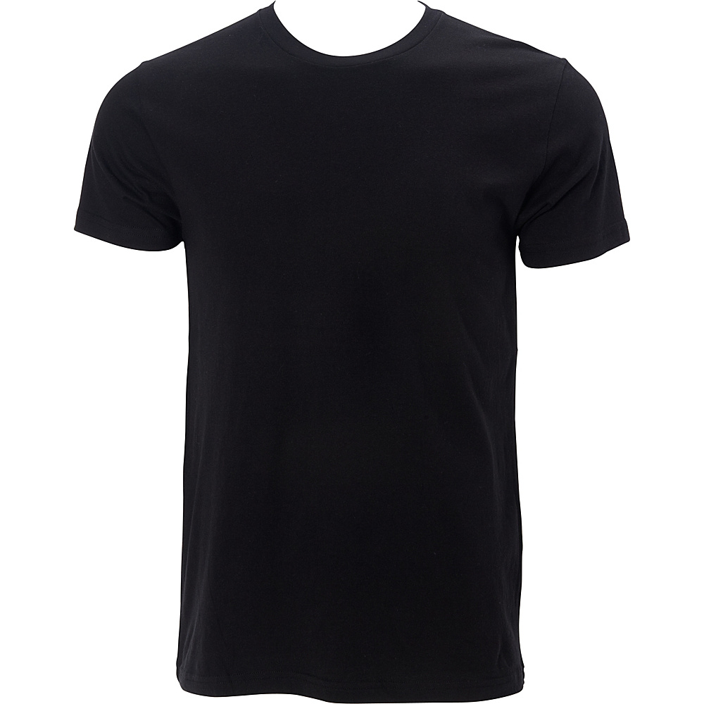Simplex Apparel Premium Mens Crew Tee L - Black - Simplex Apparel Mens Apparel - Apparel & Footwear, Men's Apparel