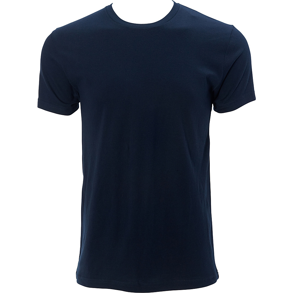 Simplex Apparel Premium Mens Crew Tee L - Navy - Simplex Apparel Mens Apparel - Apparel & Footwear, Men's Apparel