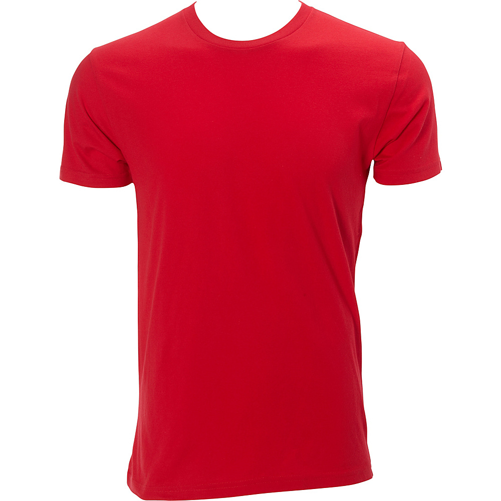 Simplex Apparel Premium Mens Crew Tee M - Red - Simplex Apparel Mens Apparel - Apparel & Footwear, Men's Apparel