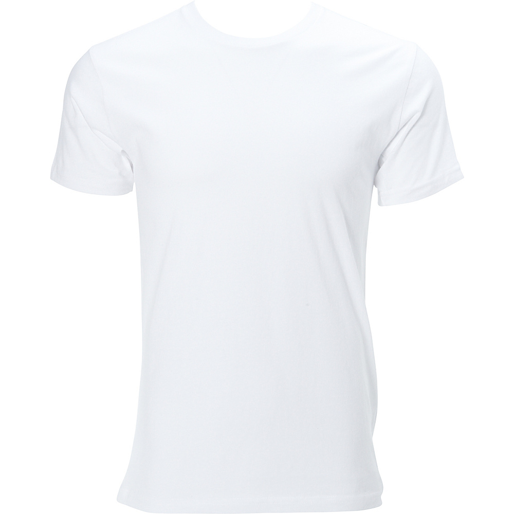 Simplex Apparel Premium Mens Crew Tee M - White - Simplex Apparel Mens Apparel - Apparel & Footwear, Men's Apparel