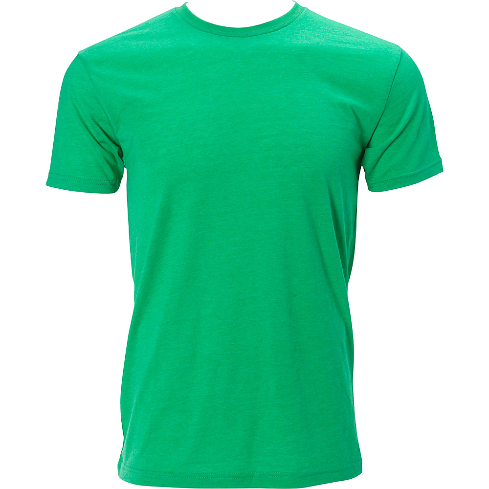 Simplex Apparel Triblend Mens Crew Tee M - Lush Green - Simplex Apparel Mens Apparel - Apparel & Footwear, Men's Apparel