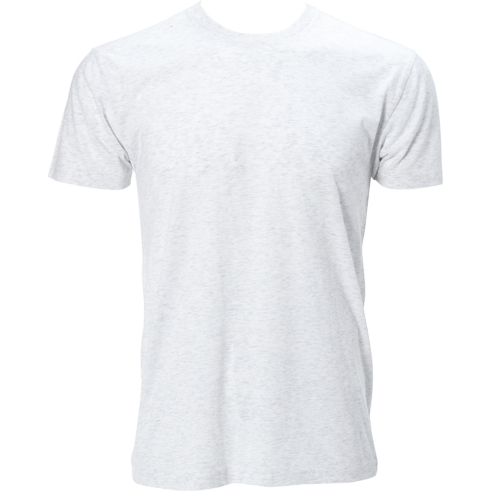 Simplex Apparel Triblend Mens Crew Tee L - Speckled White - Simplex Apparel Mens Apparel - Apparel & Footwear, Men's Apparel