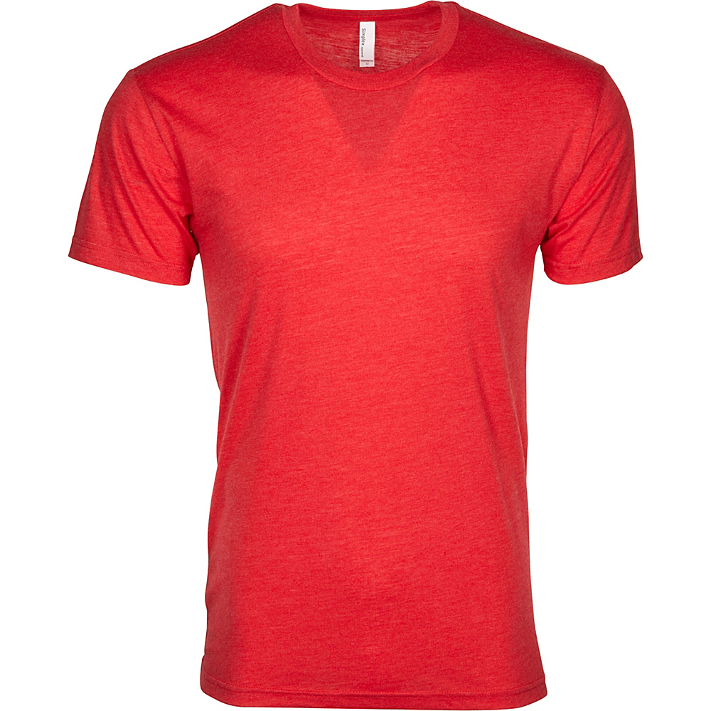 Simplex Apparel Triblend Mens Crew Tee S - Ruby Red - Simplex Apparel Mens Apparel - Apparel & Footwear, Men's Apparel