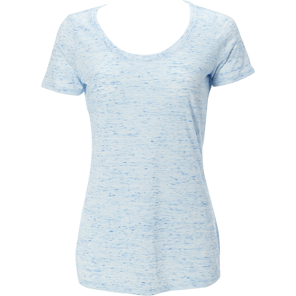 Simplex Apparel Caviar Womens Scoop Tee M - Speckled Blue - Simplex Apparel Womens Apparel - Apparel & Footwear, Women's Apparel