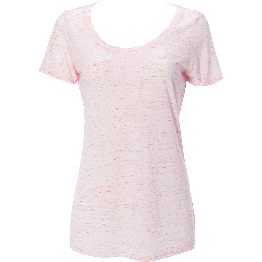 Simplex Apparel Caviar Womens Scoop Tee L - Speckled Pink - Simplex Apparel Womens Apparel - Apparel & Footwear, Women's Apparel