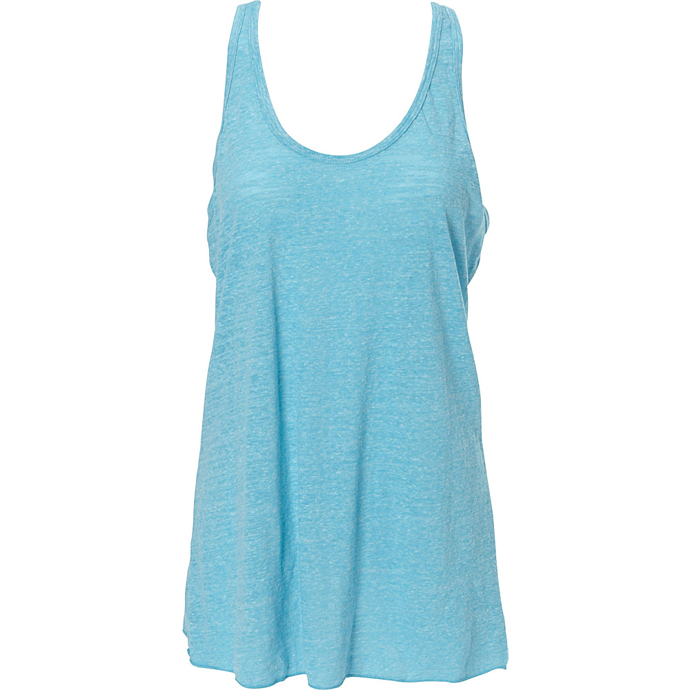 Simplex Apparel Triblend Slub Womens Racerback Tank L - Aqua - Simplex Apparel Womens Apparel - Apparel & Footwear, Women's Apparel