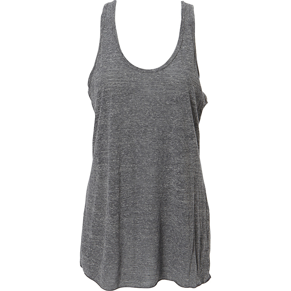 Simplex Apparel Triblend Slub Womens Racerback Tank L - Charcoal Grey - Simplex Apparel Womens Apparel - Apparel & Footwear, Women's Apparel