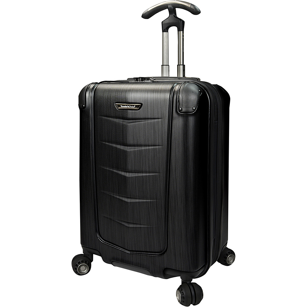 Traveler s Choice Silverwood 21 Polycarbonate Hardside Spinner Brushed Metal Traveler s Choice Softside Checked