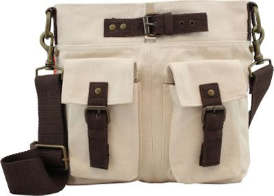 CB Station Crossbody Satchel Natural - CB Station Fabric Handbags