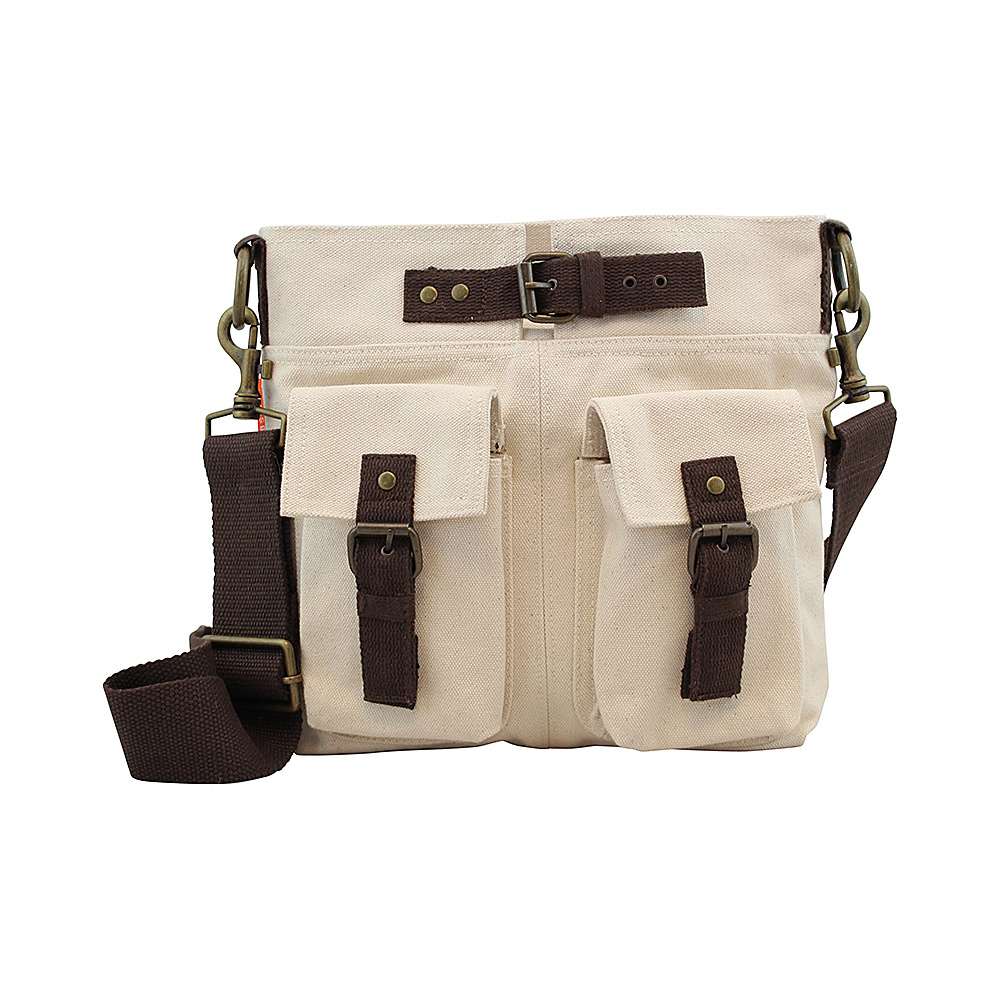 CB Station Crossbody Satchel Natural CB Station Fabric Handbags