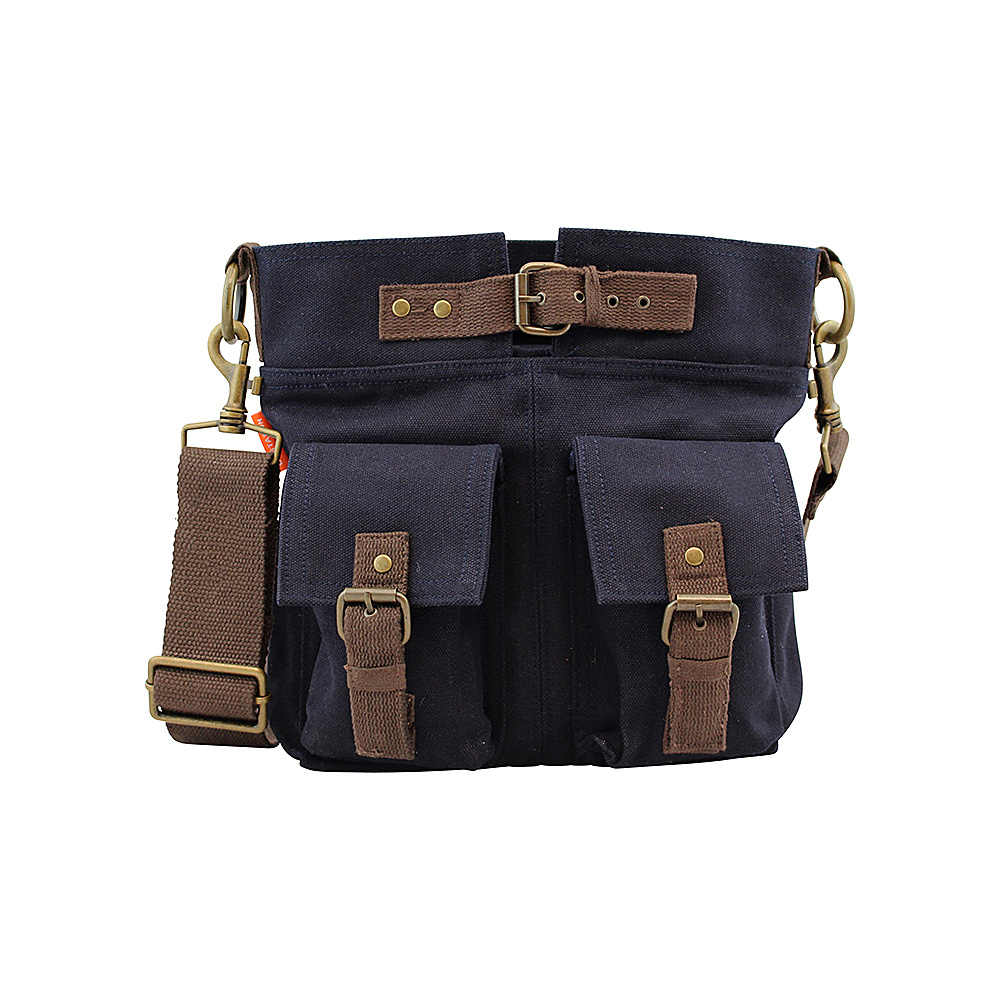 CB Station Crossbody Satchel Navy CB Station Fabric Handbags