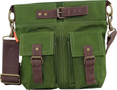 CB Station Crossbody Satchel Olive - CB Station Fabric Handbags