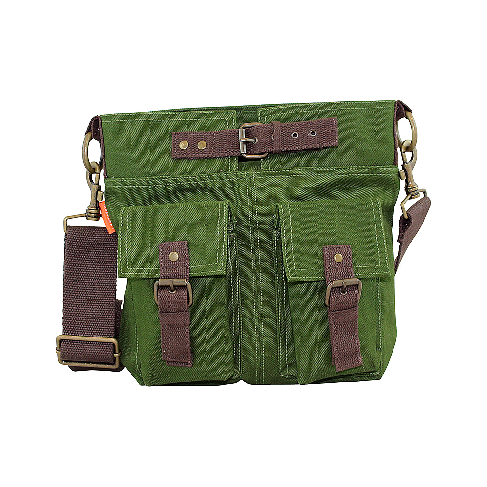 CB Station Crossbody Satchel Olive CB Station Fabric Handbags
