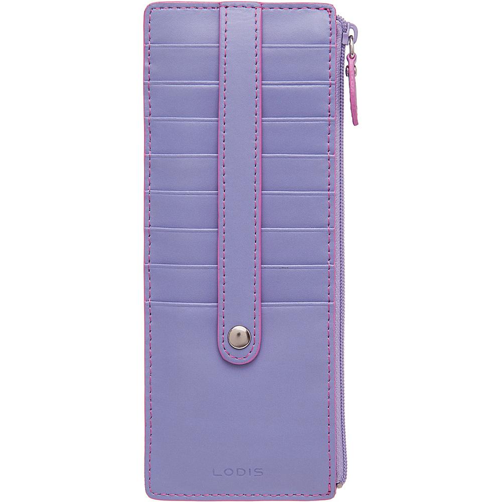 Lodis Audrey Credit Card Case W/Zip Lilac/Rose - Lodis Women's Wallets