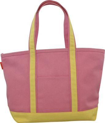 CB Station Boat Tote Medium Coral/Yellow - CB Station Fabric Handbags